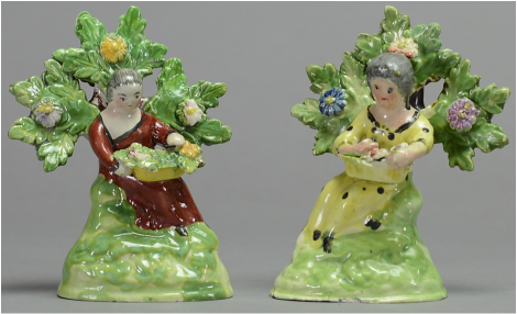 antique Staffordshire figure, antique Staffordshire pottery,