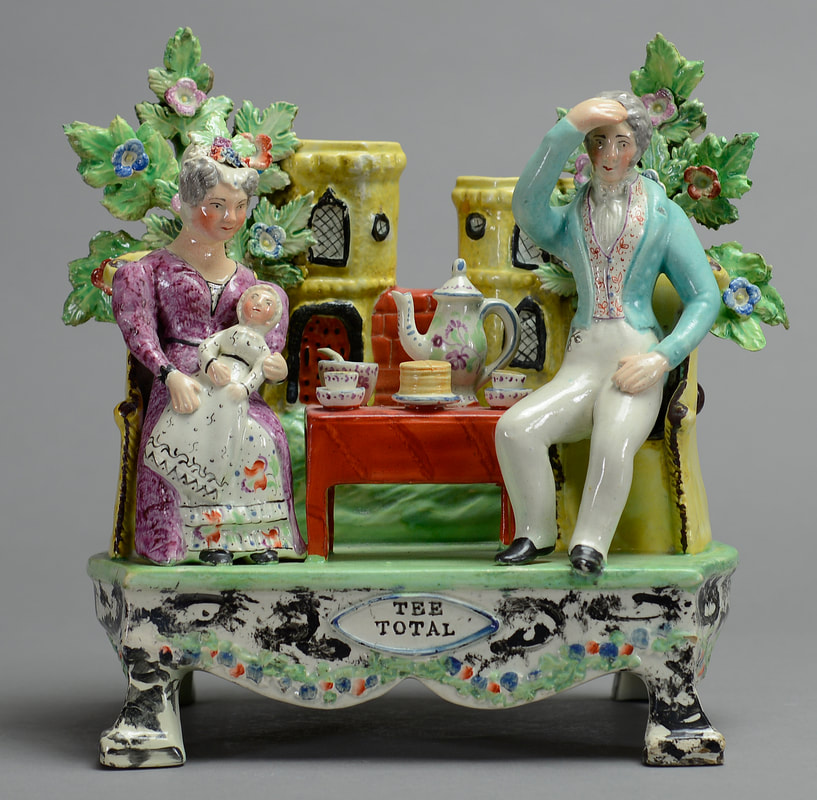 early Staffordshire figure, antique Staffordshire pottery, Staffordshire figure, Myrna Schkolne, Sherratt, Obadiah Sherratt