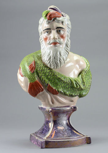 antique Staffordshire pottery, antique Staffordshire figure