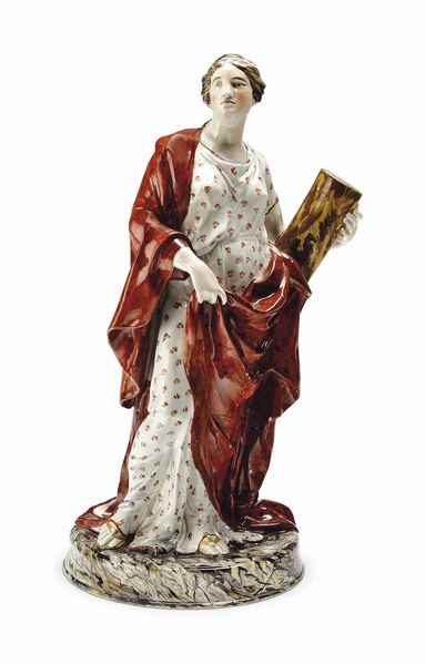 antique Staffordshire figure, Staffordshire pottery figure, Wedgwood figure, Wedgwood & Co., pearlware figure, Myrna Schkolne, Fortitude