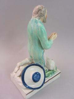 Staffordshire pottery figure, antique Staffordshire, pearlware, Ralph Wood, Myrna Schkolne, antique Staffordshire pottery