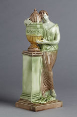 antique Staffordshire pottery, antique Staffordshire figure, pearlware, Charlotte at the Tomb of Werther, Myrna Schkolne